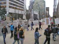 Emergency Picket in Response to death of 10th Canadian Soldier. March 2 2006.